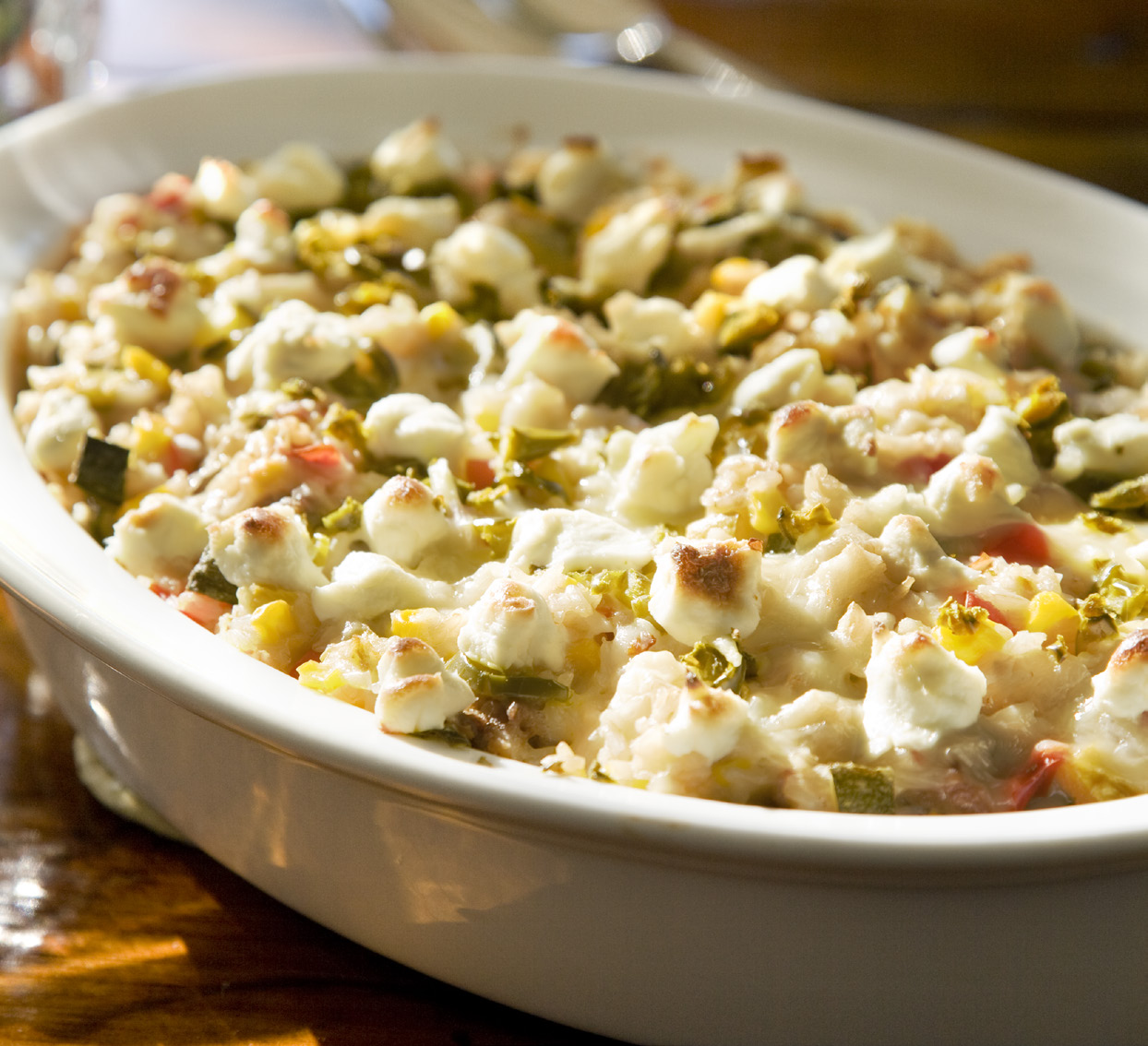 Cheesy Veggie Filled Rice Casserole